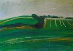 Chalk hills South Cambridgeshire. 71.7cmx49.7cm