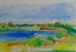 Morning at Welney. Cambridgeshire36cmx59.2cm