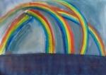 Rainbows on the Fen, Cambridgeshire 74cmx54,5cm