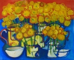 Chrysanthemum still life 47cmx48.5cm