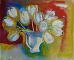 White tulips.48cmx38cm